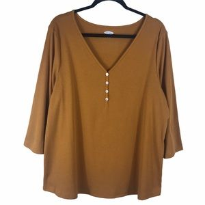 Old Navy Ribbed Button Front Tunic Top